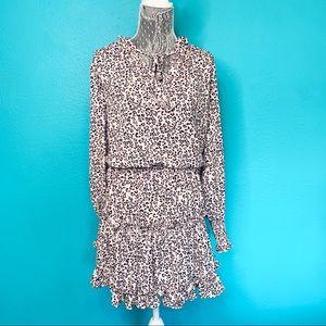 CBR Cheetah Print Tiered Skirt Dress